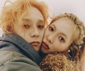 hyuna, e'dawn, and couple image