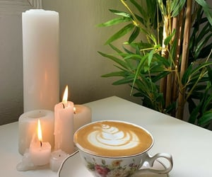 cafe, candles, and interior image