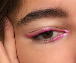 eyebrows, fashion, and mascara image
