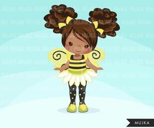 girl, illustration, and bumblebee image