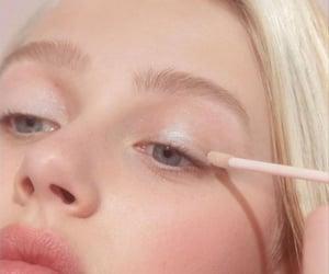blonde, blush, and makeup image