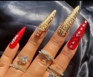 designer, jewelry, and nails image