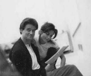 black and white, chandler, and monica image