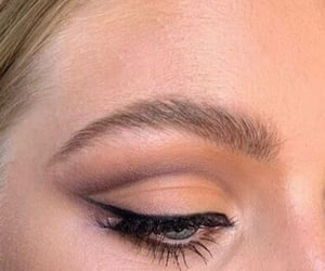 eyebrows, makeup, and mascara image