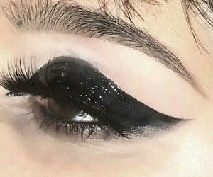 makeup, black, and girl image