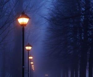 night, light, and dark image