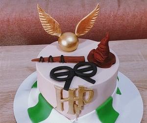 cake, decoration, and hufflepuff image