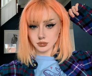 bangs, girl, and hair image