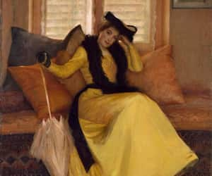 Lady in Yellow (the artist's sister, Eleanor Reeves) by Susan Watkins. 1902