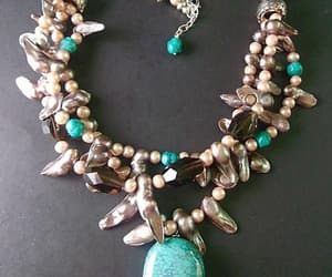 sterling silver, abalone shell, and designer necklace image