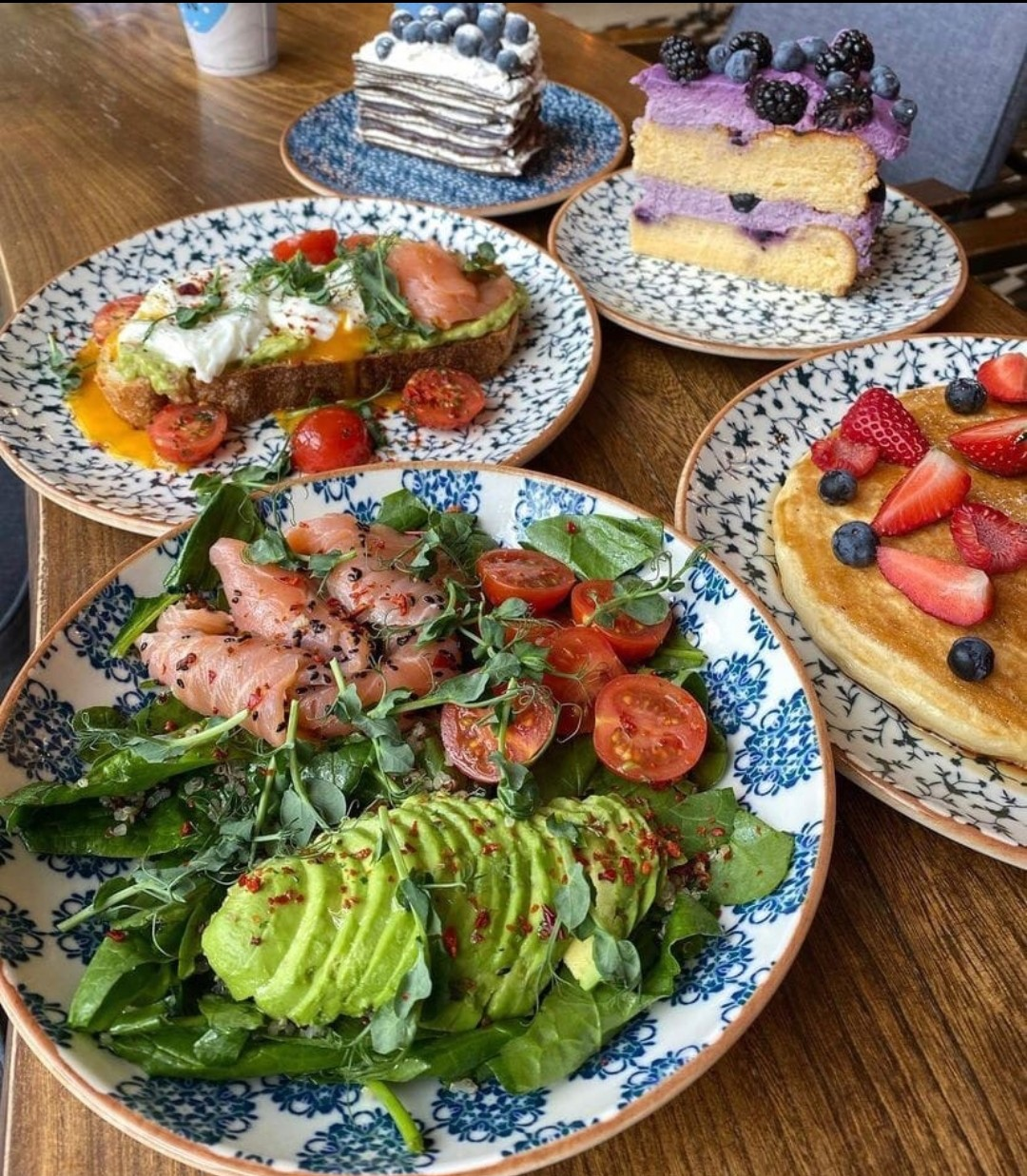 avocado, blueberries, and breakfast image