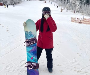 snow, snowboard, and sweden image