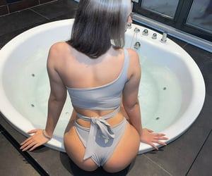 bikini, blond, and feed image