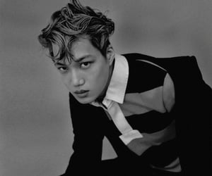 bw, kpop, and kai image