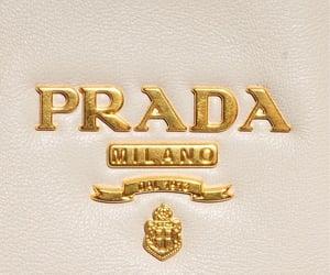 Prada, fashion, and gold image