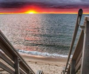 beach, sea, and shore image