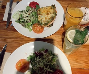 dinner, food, and greens image