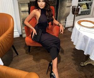 black, dress, and luxury image