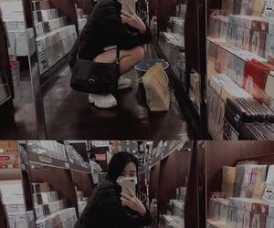 bookstore, dark, and mask image