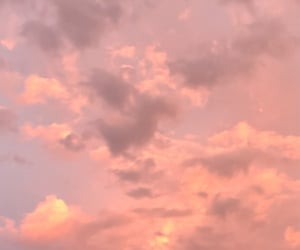 aesthetic, pink, and pink clouds image