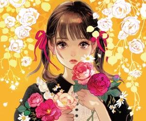 aesthetic, anime girl, and drawing image