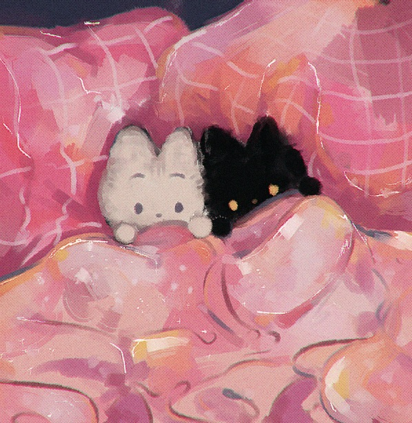 cute, cats, and pink image