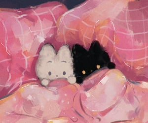 cute, art, and cats image