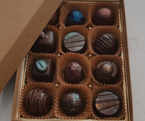 brown, candies, and chocolates image