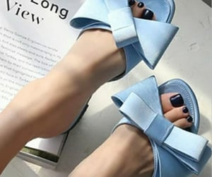 blue, shoes, and mules image