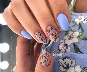 blue, design, and floral image
