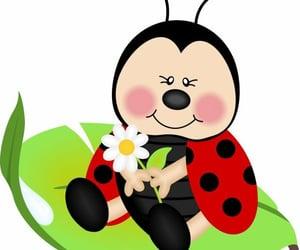 illustrations, nature, and ladybug image