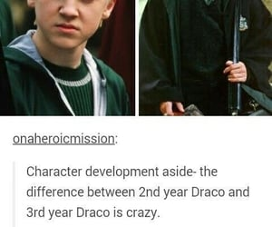 draco malfoy, slytherin, and tom felton image