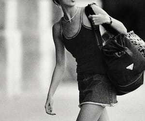 black and white and kate moss image