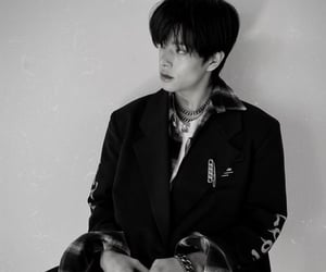 black and white, kpop, and visual image