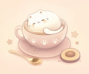 adorable, background, and cappuccino image