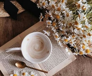 aesthetic, cup, and flowers image