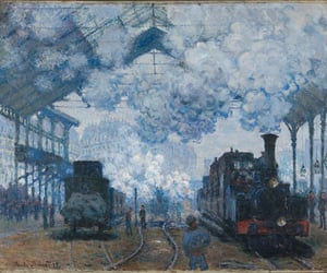 monet and train image
