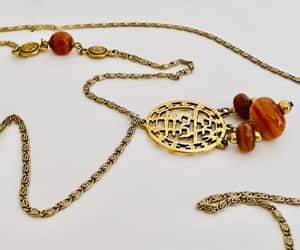 gold toned, costume jewelry, and pendant necklace image