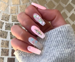 beauty, glitter, and nailart image