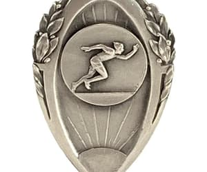 art deco, repurpose jewelry, and antique medal fob image