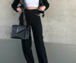 black, classic, and wide leg image