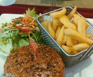 French Fries, summer, and burger image