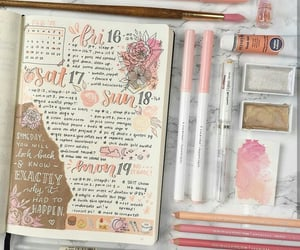 journaling, bujo, and weekly spread image