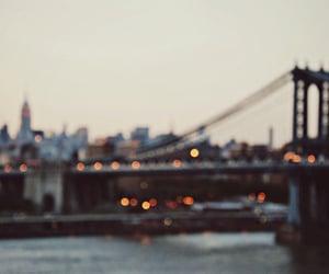 city, lights, and bridge image
