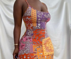 bandana, dress, and girly image
