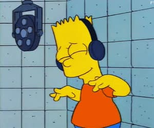 bart simpson, record, and sing image