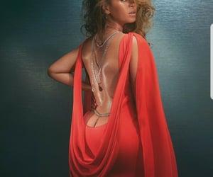 red dress, vogue, and beyoncé image
