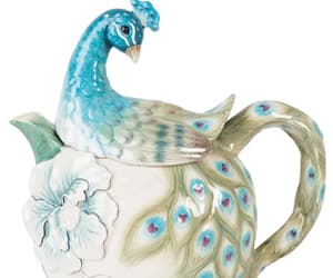 bird, peacock, and tea image
