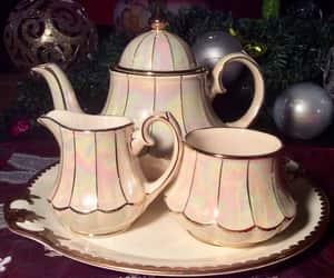 sugar bowl, tea, and teapot image