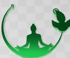 Buddha, keychain, and leaf image
